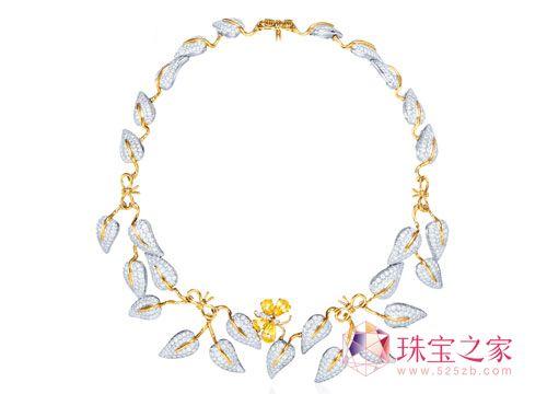 童稚俏皮味 Tiffany & Co.钻石藤蔓项链_彩宝馆_珠宝之家