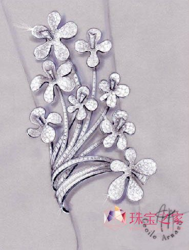 法国大师cecile arnaud的珠宝手绘作品赏