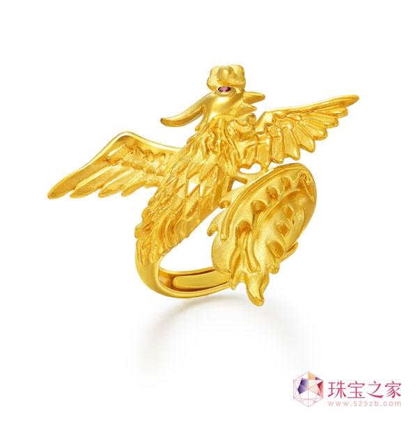 龙凤呈祥套装:戒指——周大生