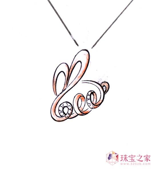 """TUTU24 《2011兔》 设计说明:用抽象的线条写出""""2011"""",并连贯的描绘出兔子的身躯,从而做到兔子的造型与年份的完美结合。"""